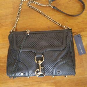Rebecca Minkoff blue leather clutch bag